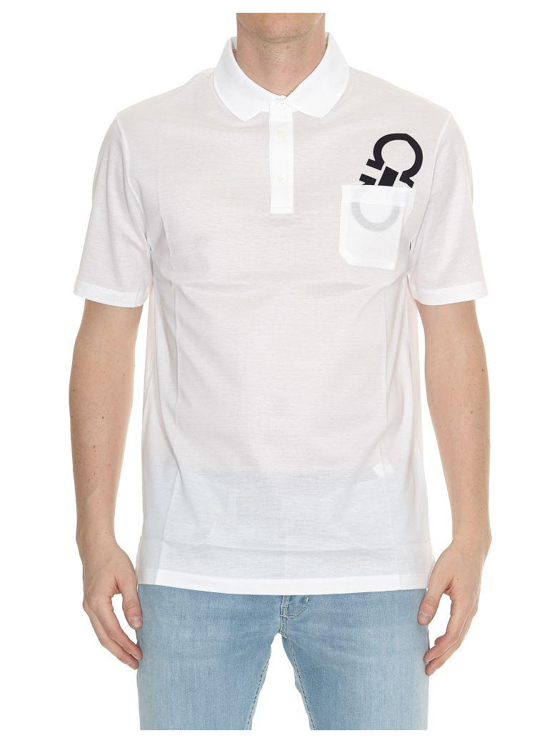 Salvatore Ferragamo Polo T-shirt In White