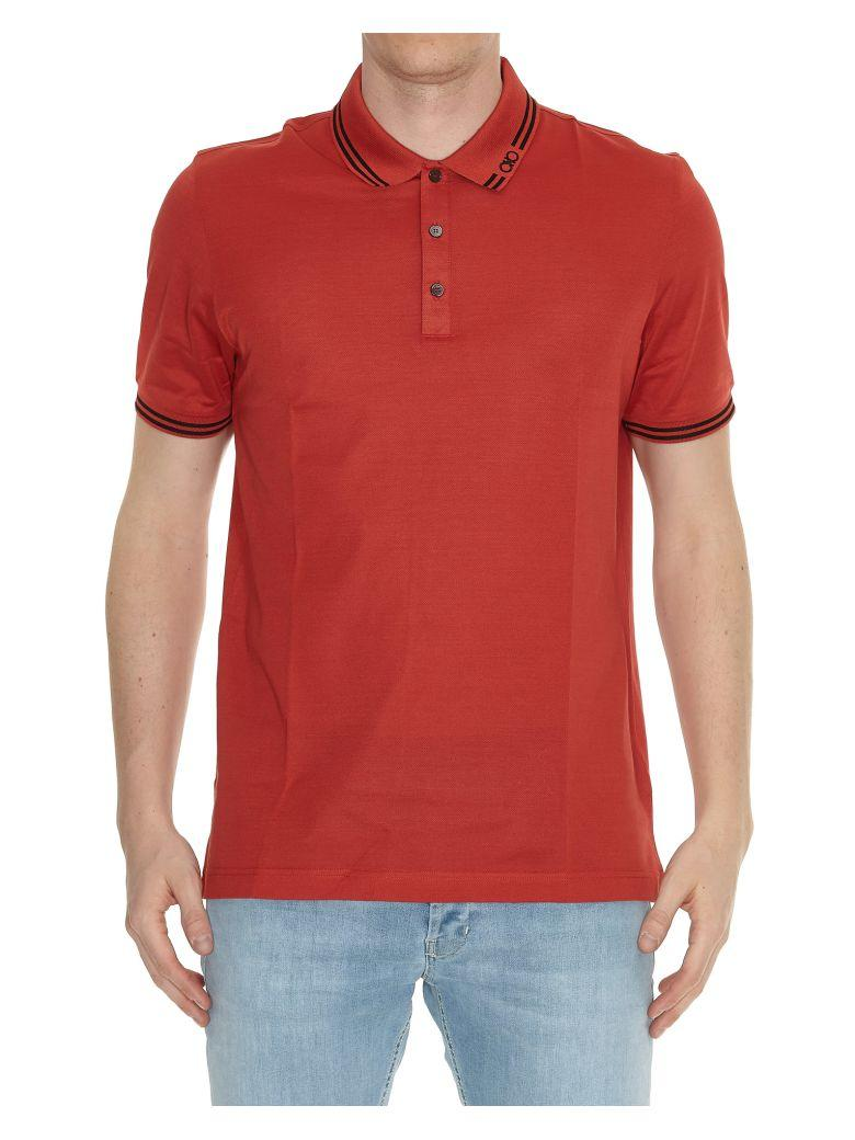 Salvatore Ferragamo Polo T-shirt In Red