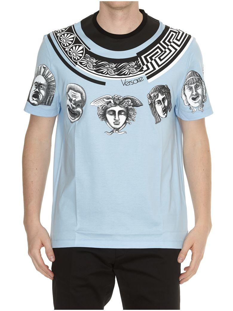 Versace Greek Balletto T-shirt In Sky Blue