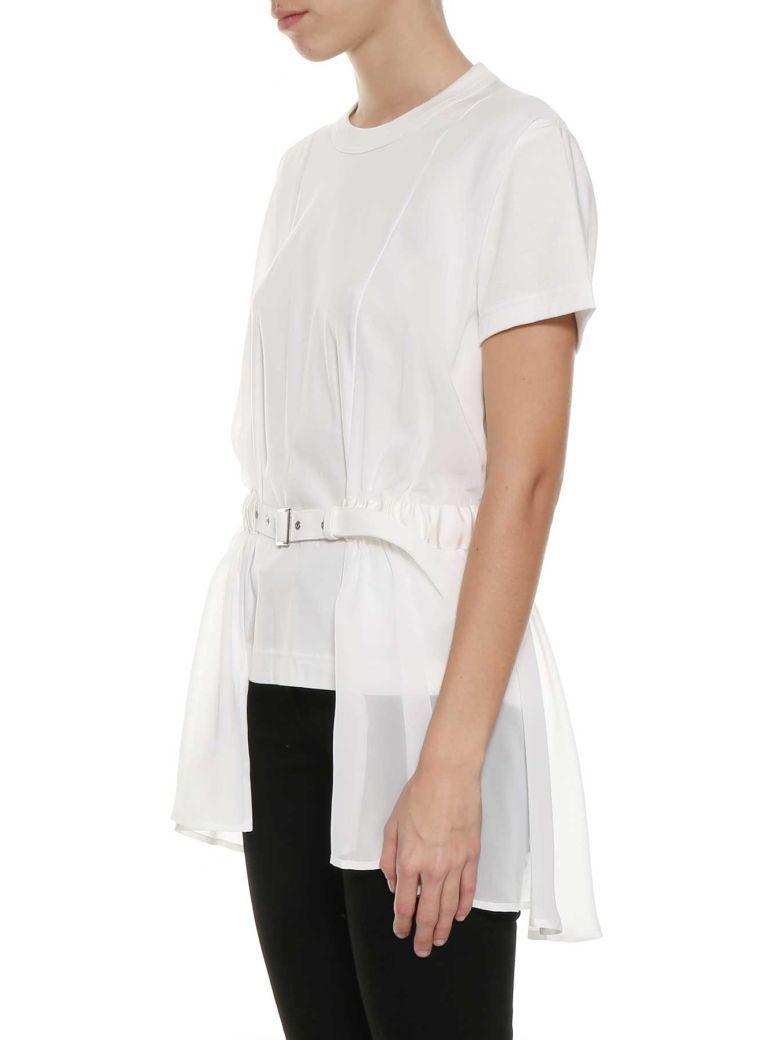 Noir Kei Ninomiya Belted Long T-shirt In White
