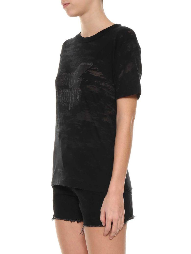 Saint Laurent Classic T-shirt In Nero
