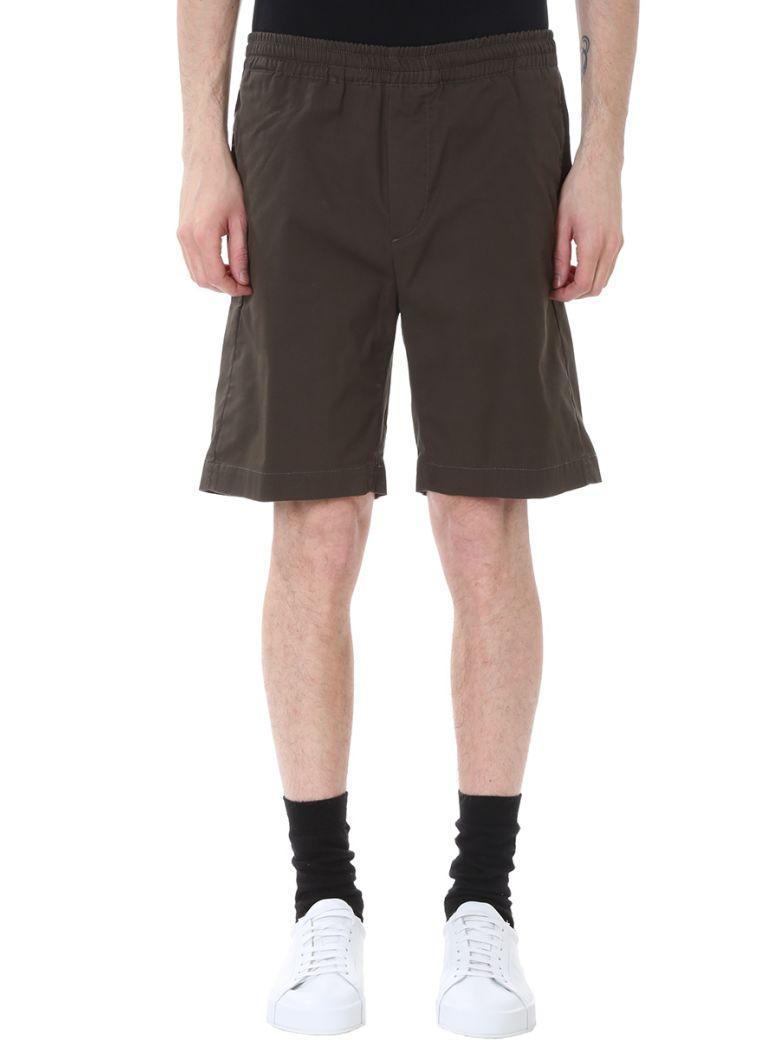 Mauro Grifoni Green Cotton Shorts
