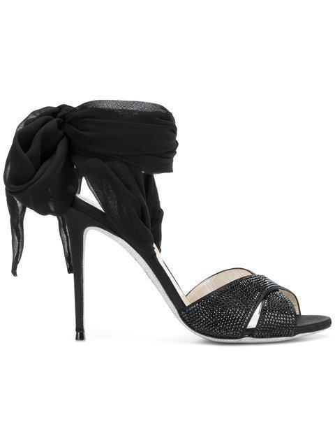 RenÉ Caovilla Foulard Sandals - Black