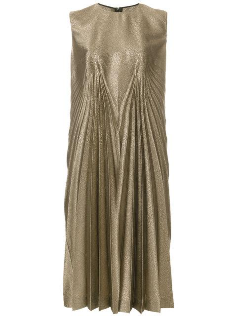 Maison Margiela Metallic Shift Midi Dress