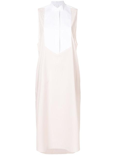 Mm6 Maison Margiela Two Tone Shirt Dress - Pink