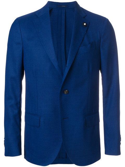 Lardini Classic Fitted Blazer In Blue