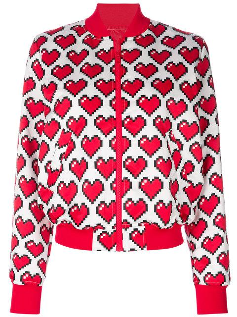 Love Moschino Heart Print Bomber Jacket