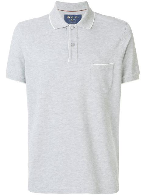 Loro Piana Classic Short Sleeve Polo In Grey