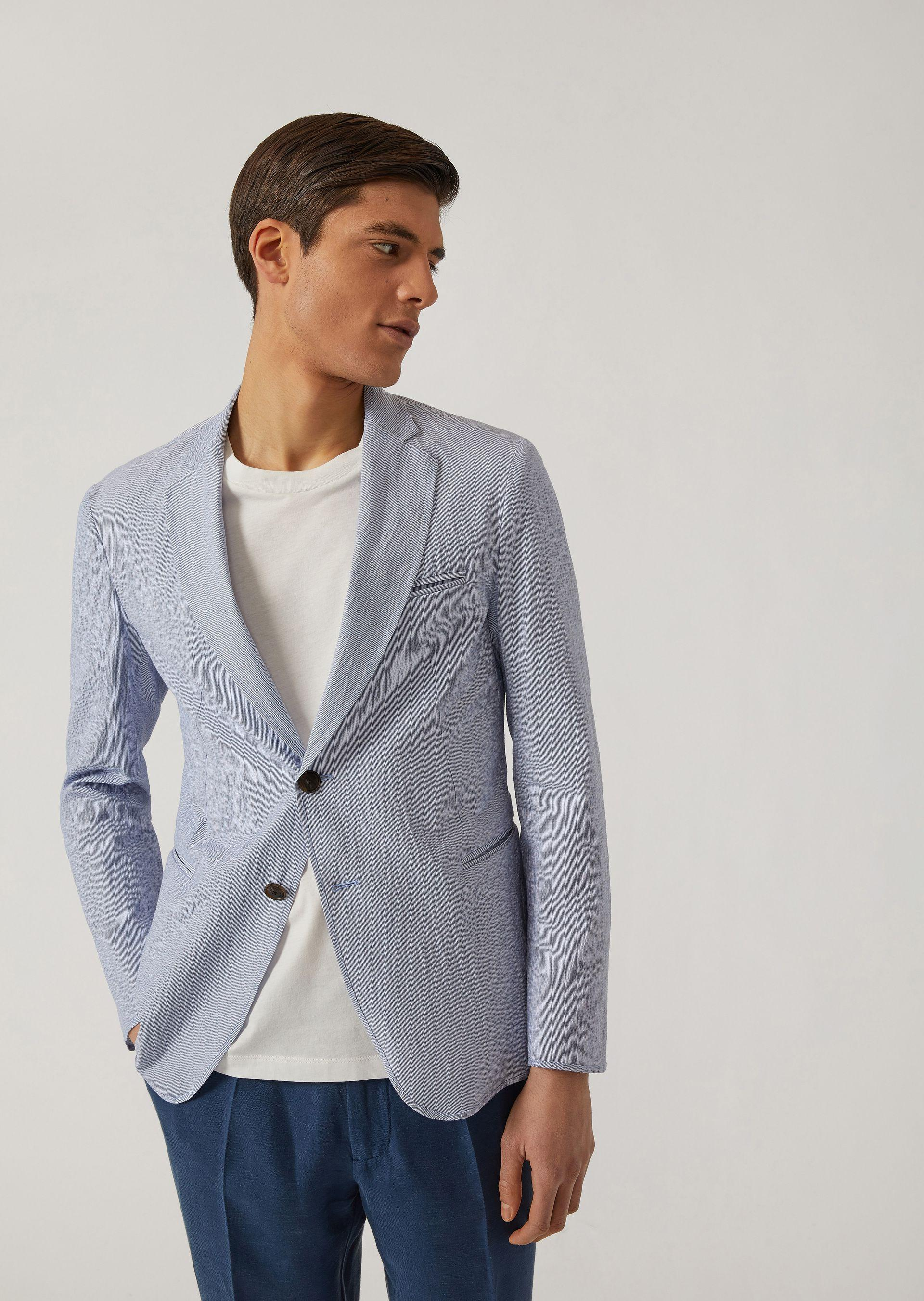 Emporio Armani Casual Jackets - Item 41789361 In Blue
