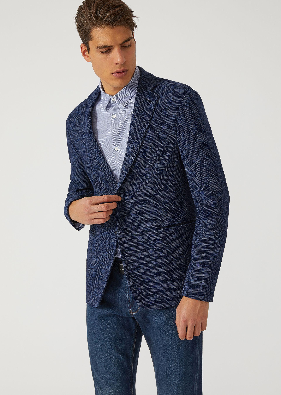 Emporio Armani Casual Jackets - Item 41791640 In Blue
