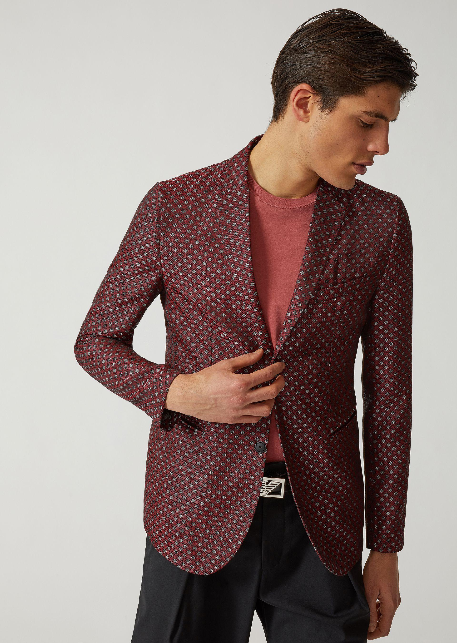 Emporio Armani Casual Jackets - Item 41793019 In Pattern