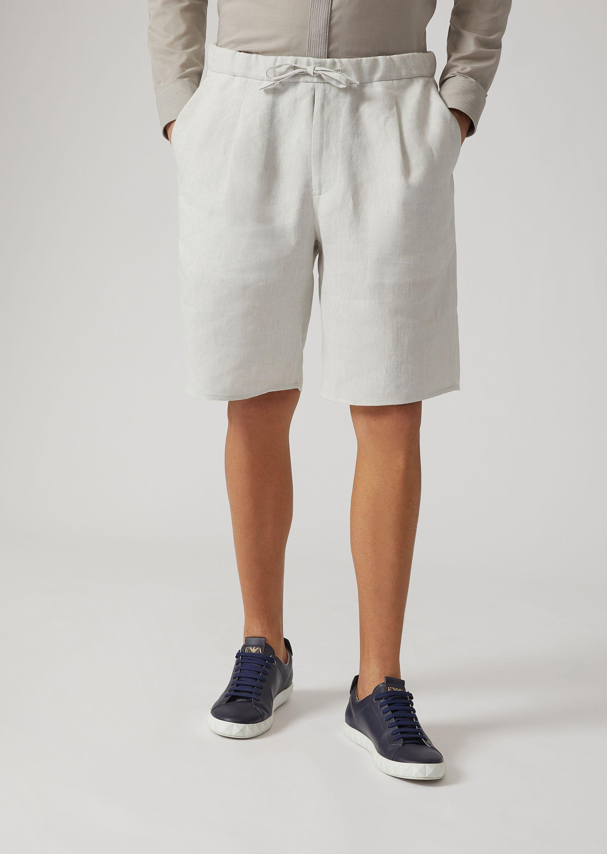 Emporio Armani Bermuda Shorts - Item 13167422 In Silk White ; Beige ; Red ; Denim