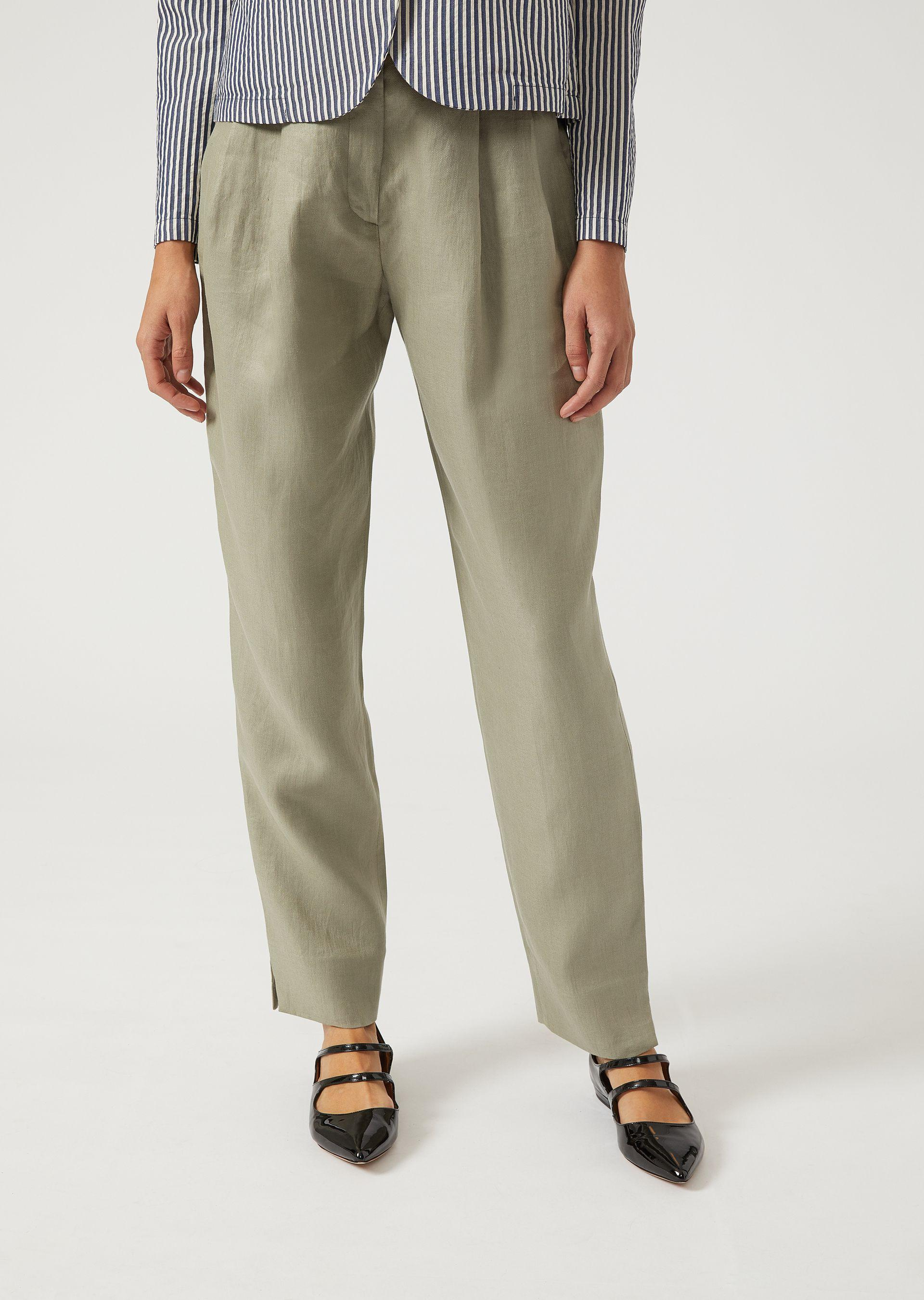 Emporio Armani Casual Pants - Item 13170233 In Beige ; Navy Blue