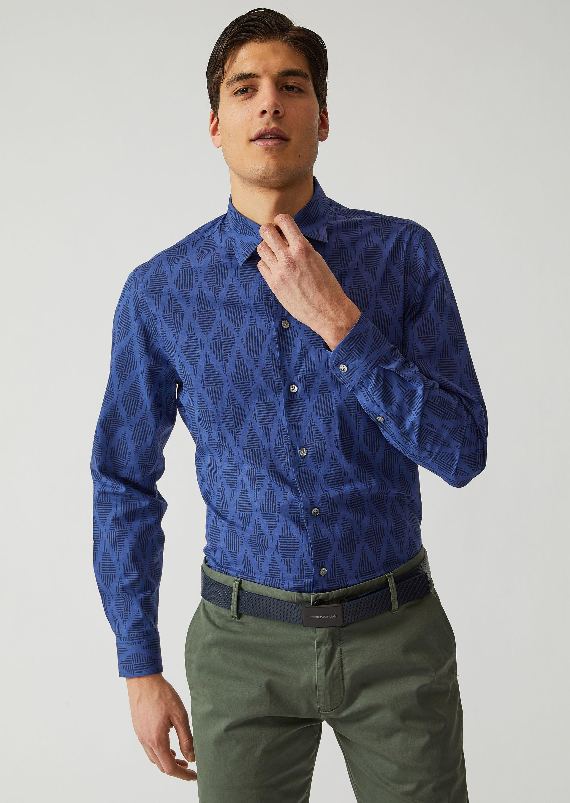 Emporio Armani Casual Shirts - Item 38729862 In Blue