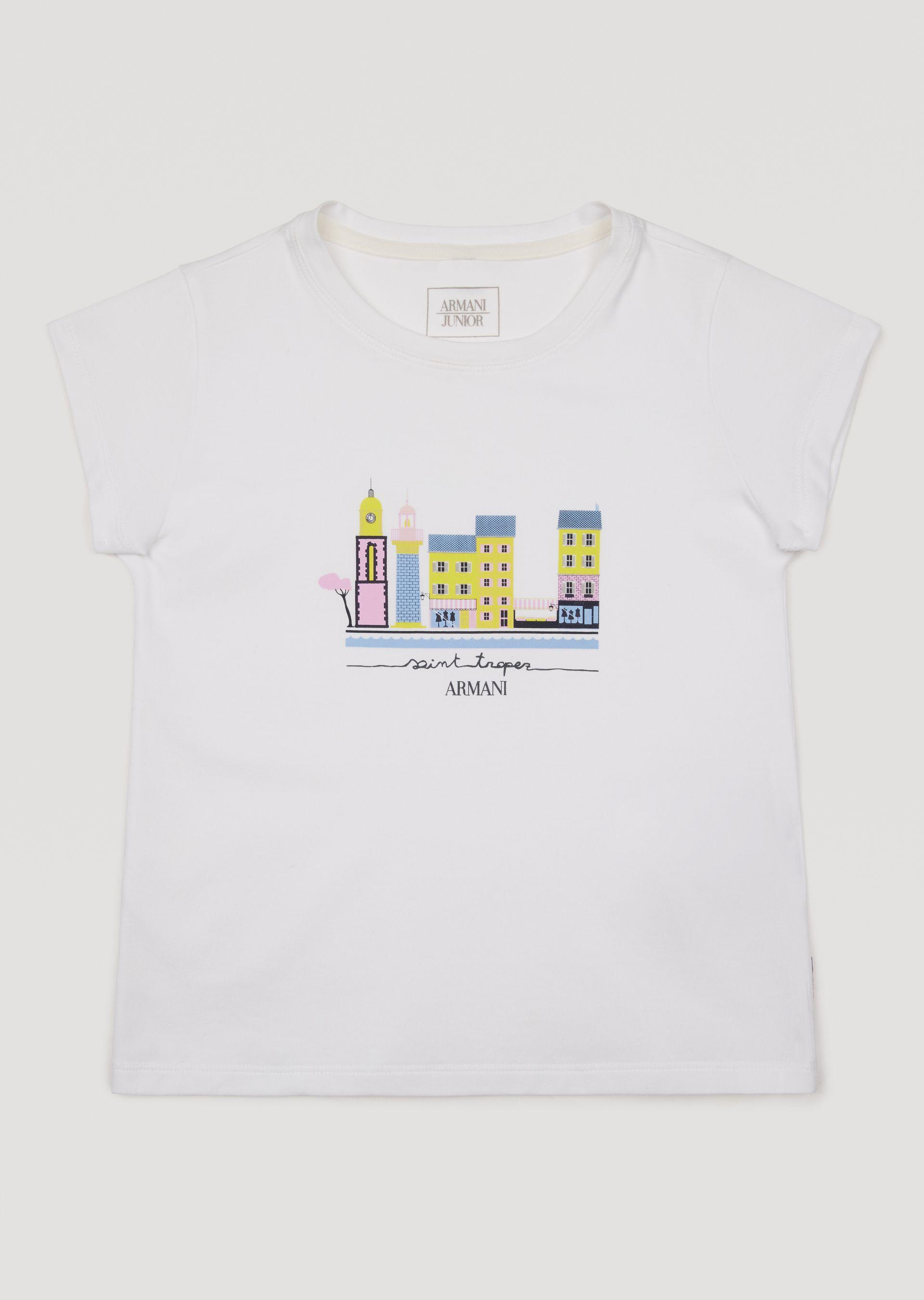 Emporio Armani T-shirts - Item 12156108 In White ; Red
