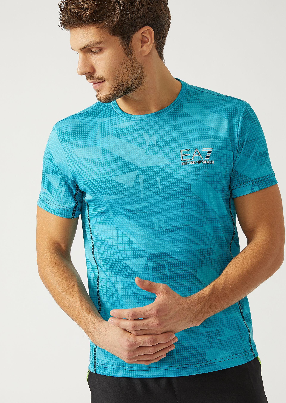 Emporio Armani T-shirts - Item 12160780 In Azure