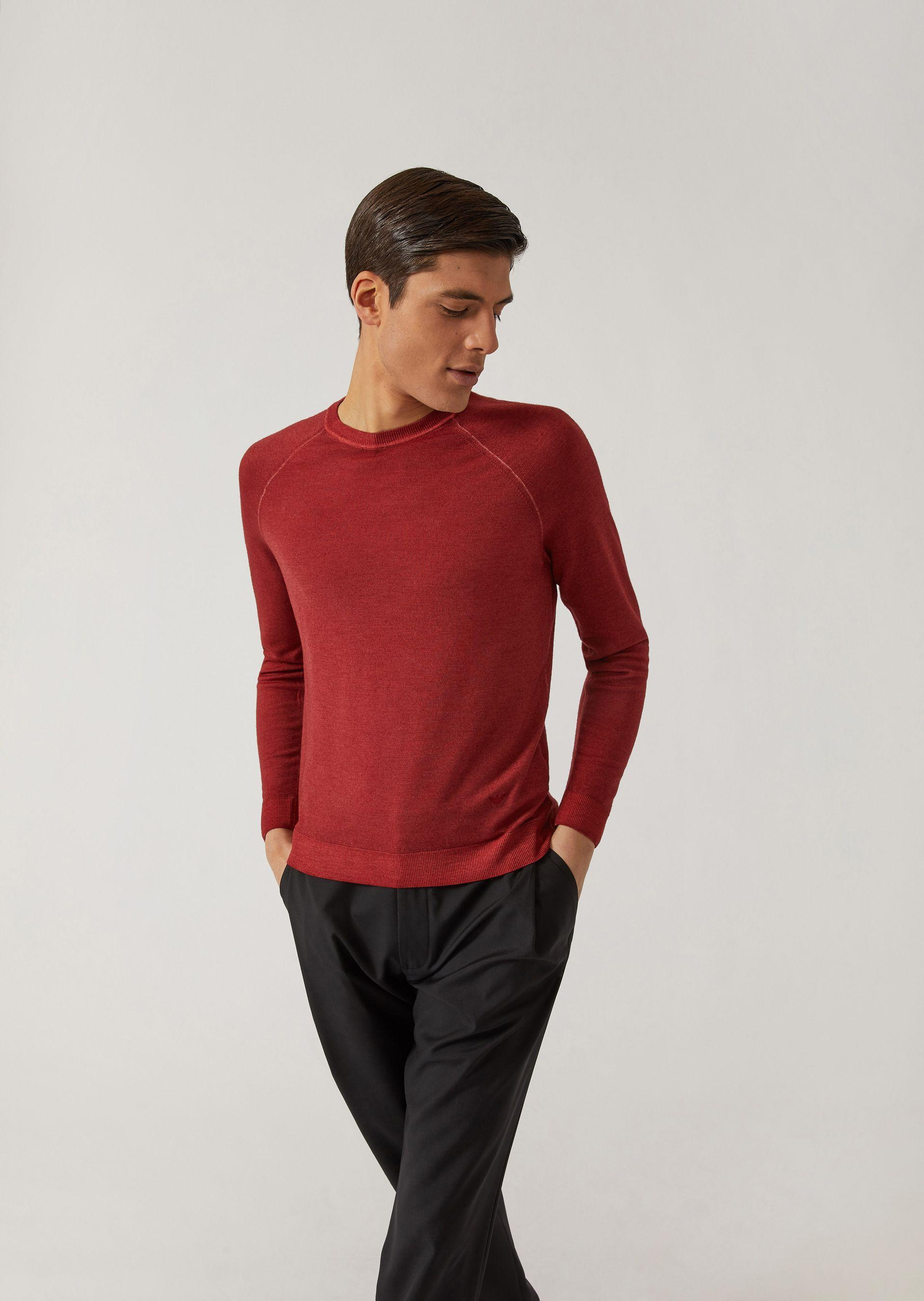 Emporio Armani Knitted Tops - Item 39850201 In Bordeaux ; Beige ; Cadet Blue