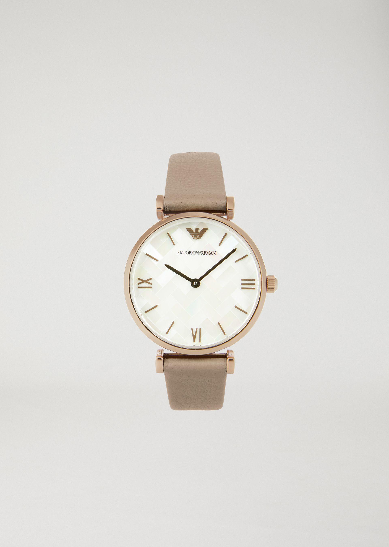 Emporio Armani Leather Strap Watches - Item 50207898 In White