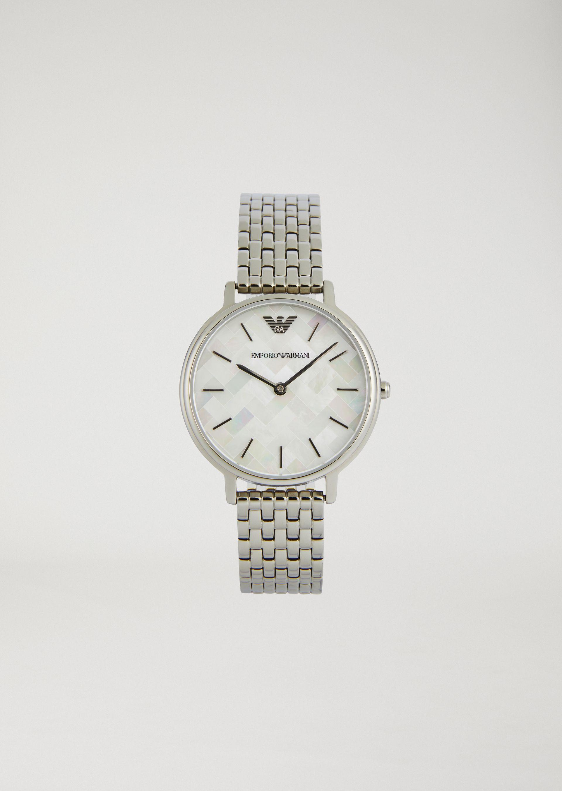 Emporio Armani Steel Strap Watches - Item 50208002 In Silver