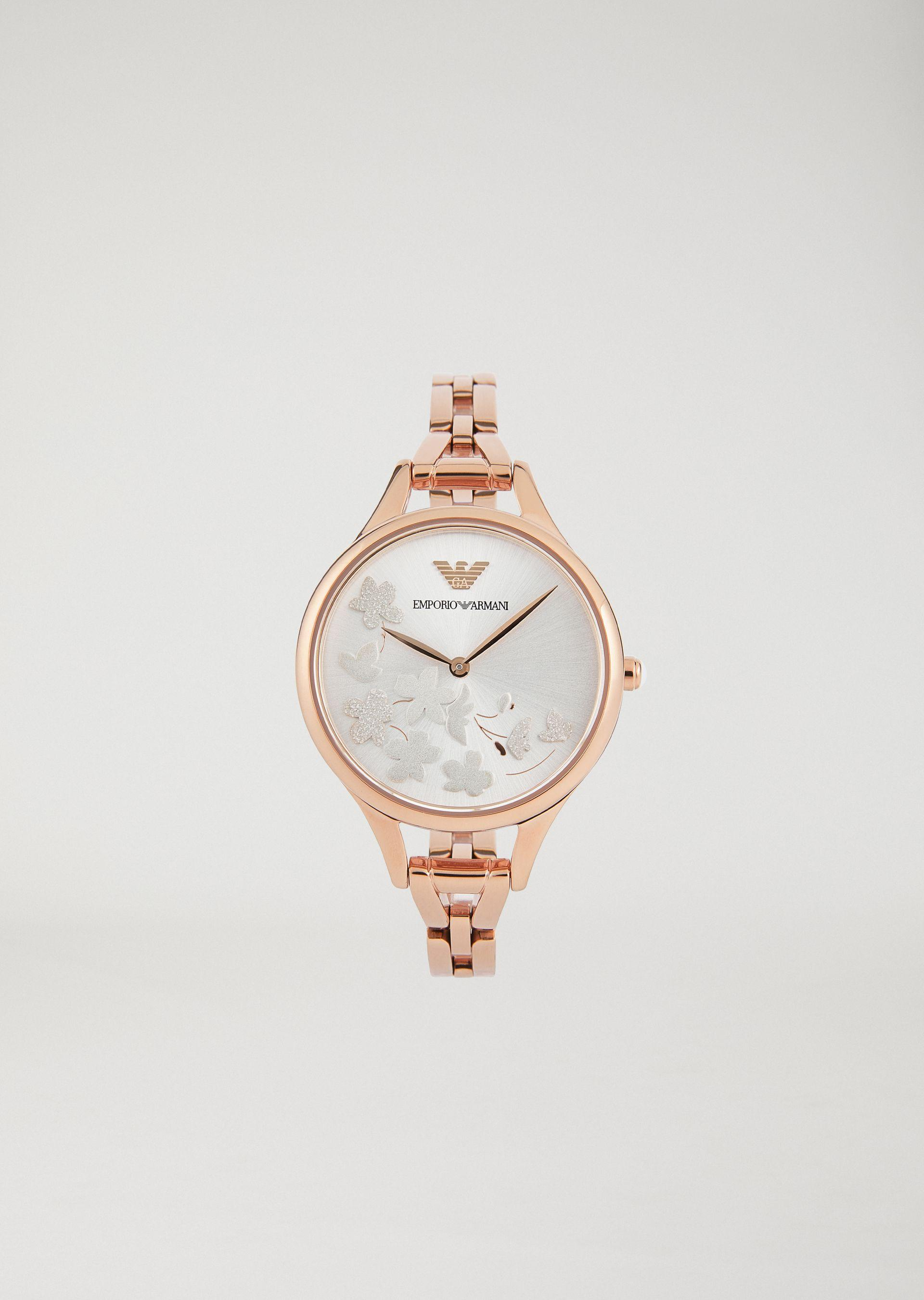 Emporio Armani Steel Strap Watches - Item 50207978 In Nude