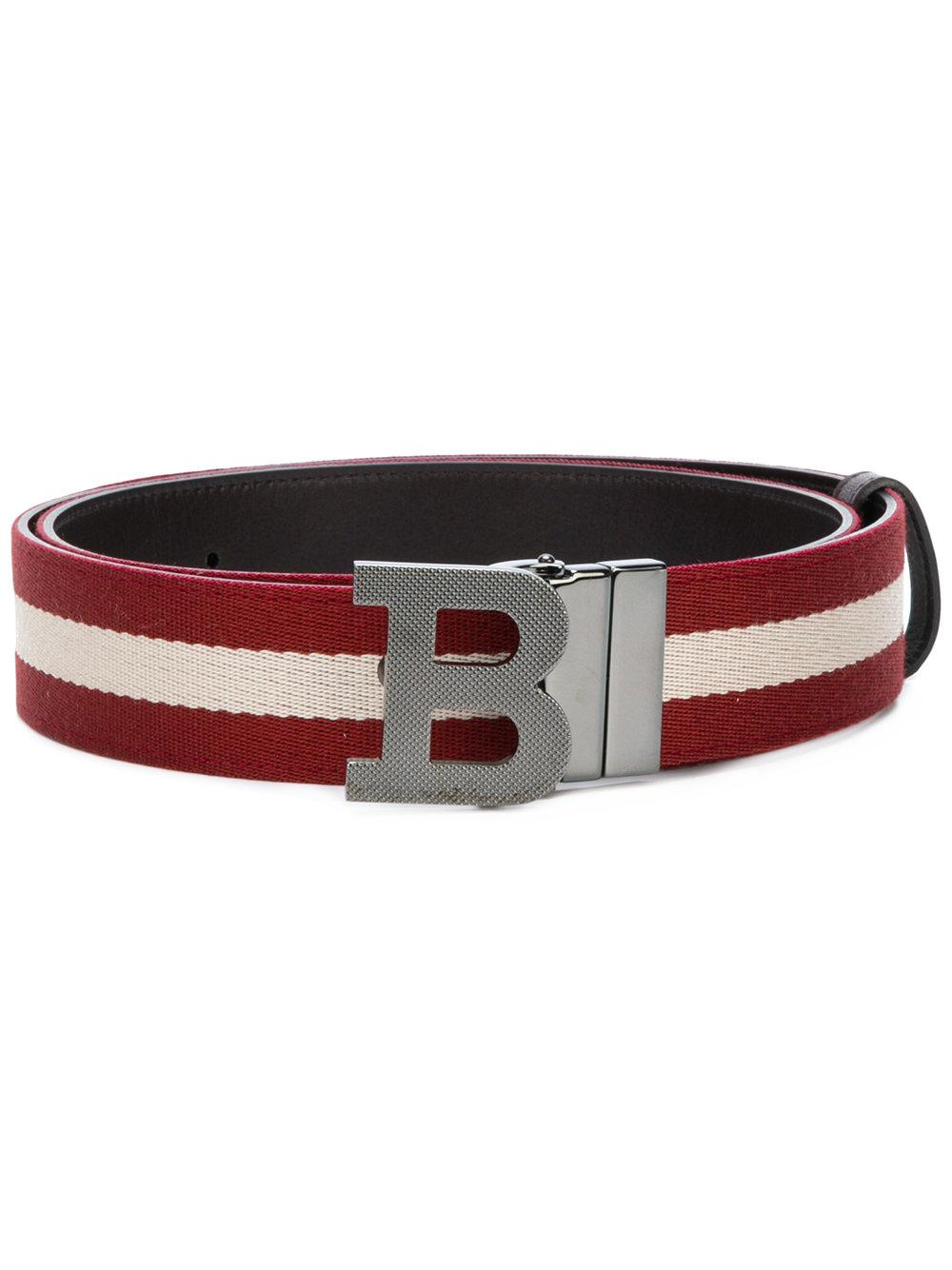 Bally B Buckle Belt - Red