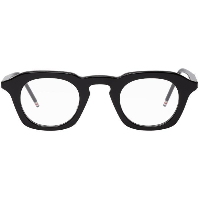 Thom Browne Square Glasses In Black