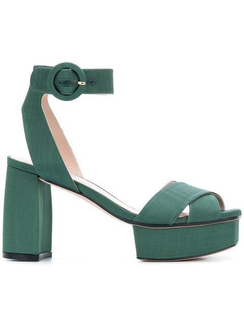 Stuart Weitzman Carmina Sandals In Green