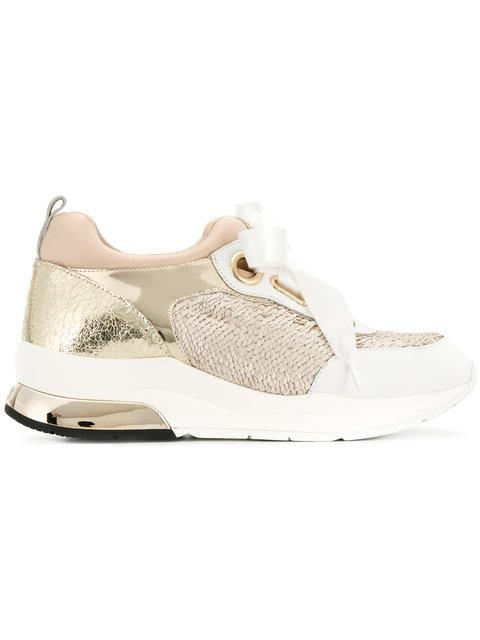 Liu •jo Panelled Ribbon Lace Sneakers