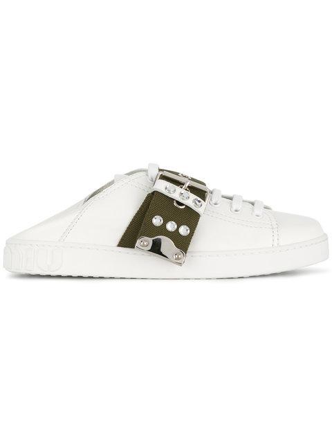 Miu Miu Collapsible Back Sneakers