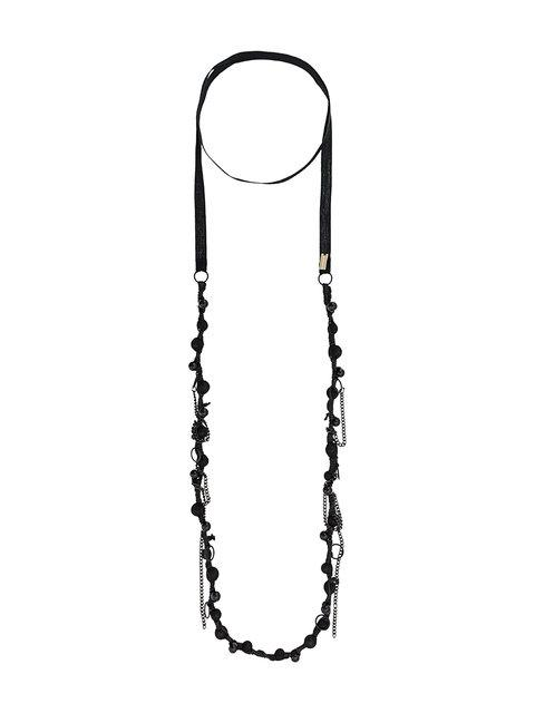 Ann Demeulemeester Long Beaded Necklace - Black
