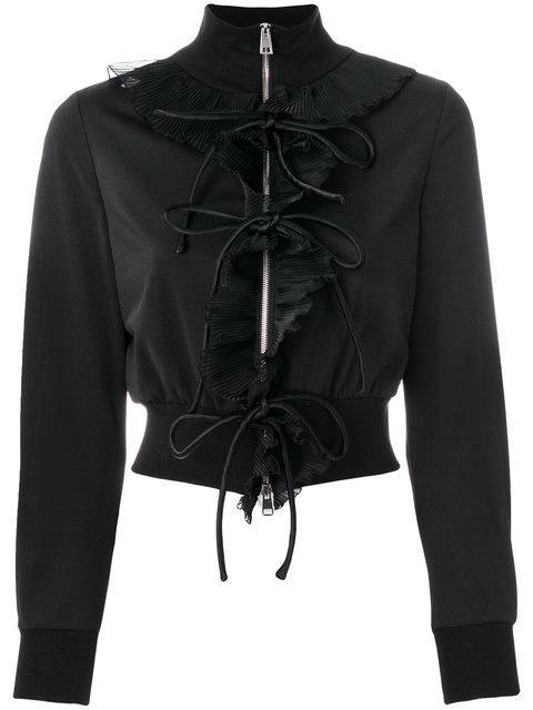 Brognano Zipped Fitted Jacket - Black
