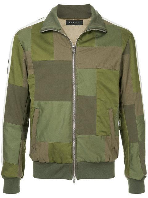 Roar Square Print Sports Jacket - Green