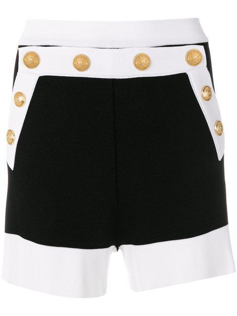 Balmain Button-embellished Shorts