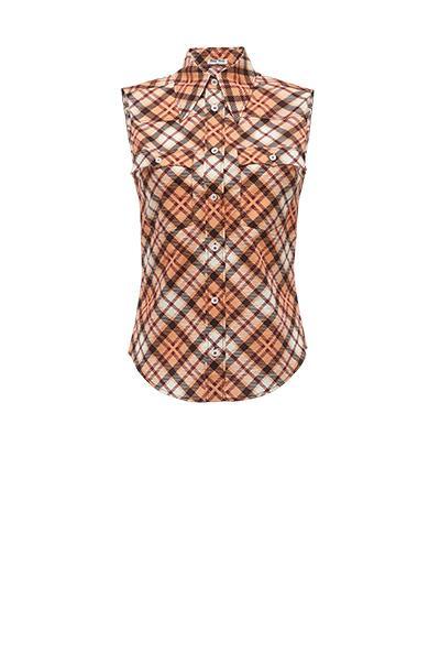 Miu Miu Cotton Top In Powder Pink