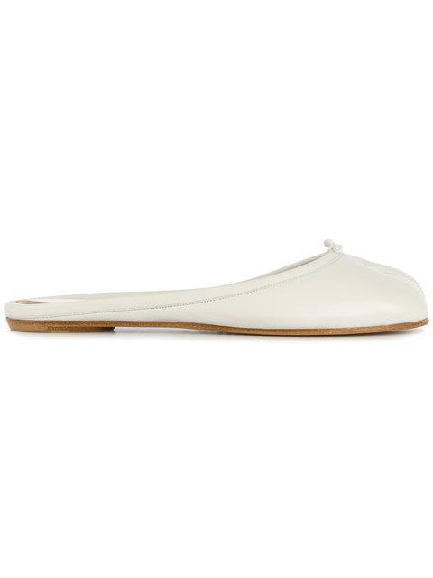 Maison Margiela Tabi Backless Slippers In White