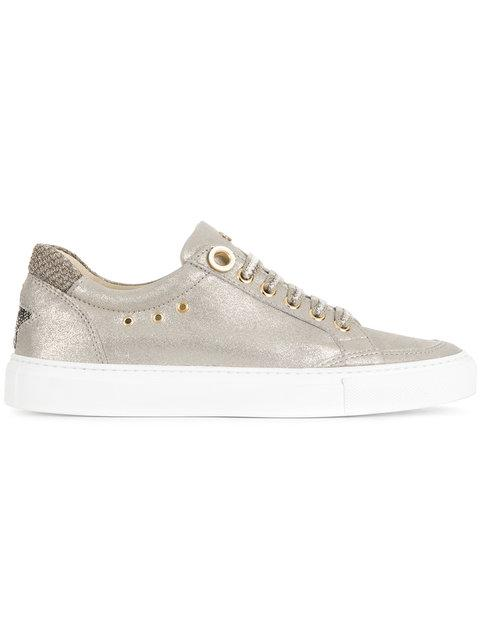 Lorena Antoniazzi Star Patch Sneakers - Metallic