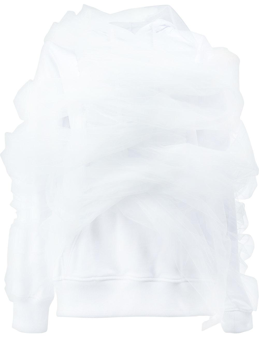 Y/project Ruched Sleeve Hooded Sweater