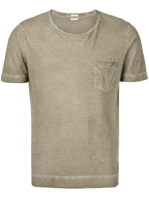 Massimo Alba Patch Pocket T In Neutrals