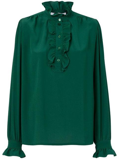 Stella Mccartney Ruffled Neck Blouse - Green