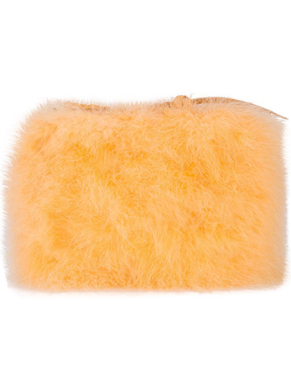 Nina Ricci Marabou Feather Clutch Bag
