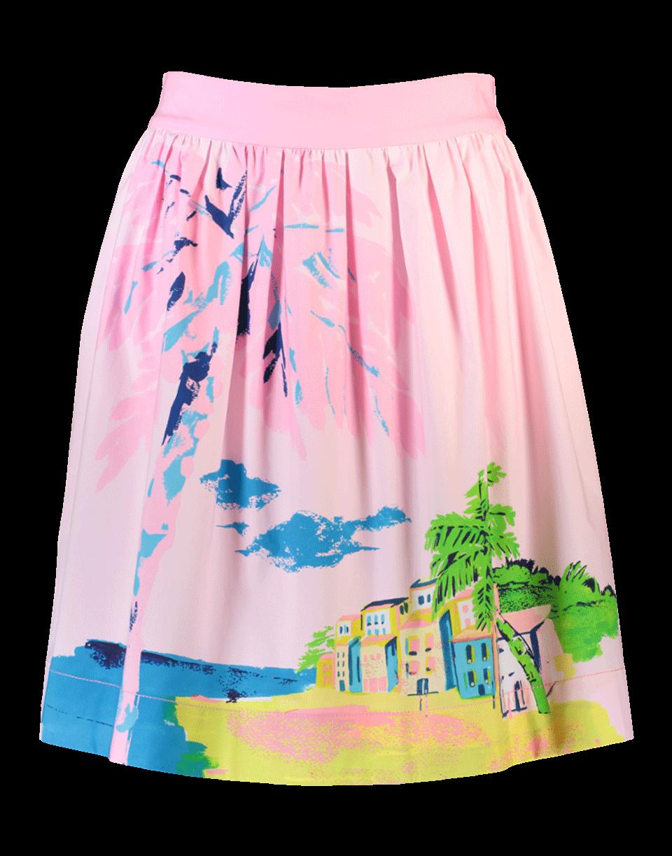 Boutique Moschino Tropical Print Skirt In Pink