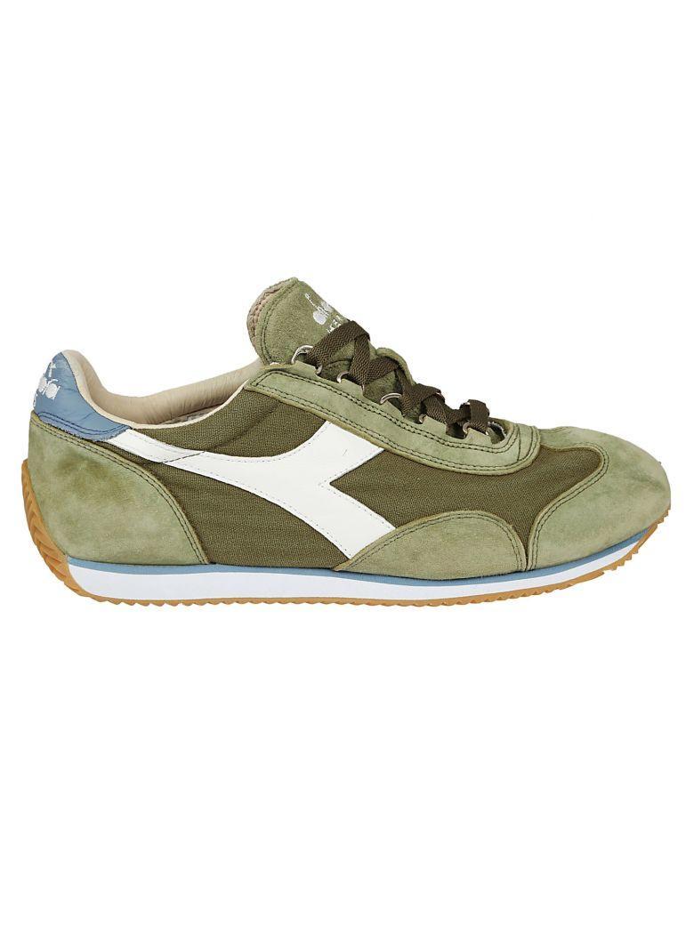 Diadora Equipe Stone Wash Sneakers In Cverde Erba/blu