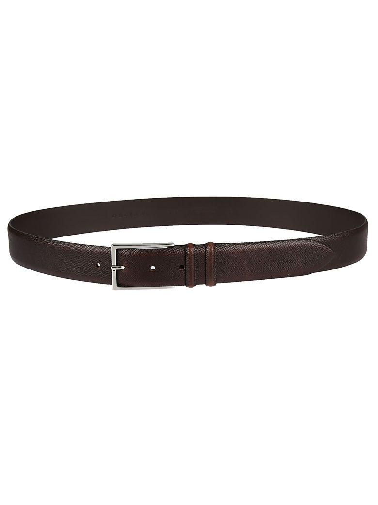 Orciani Patterned Belt In Brown