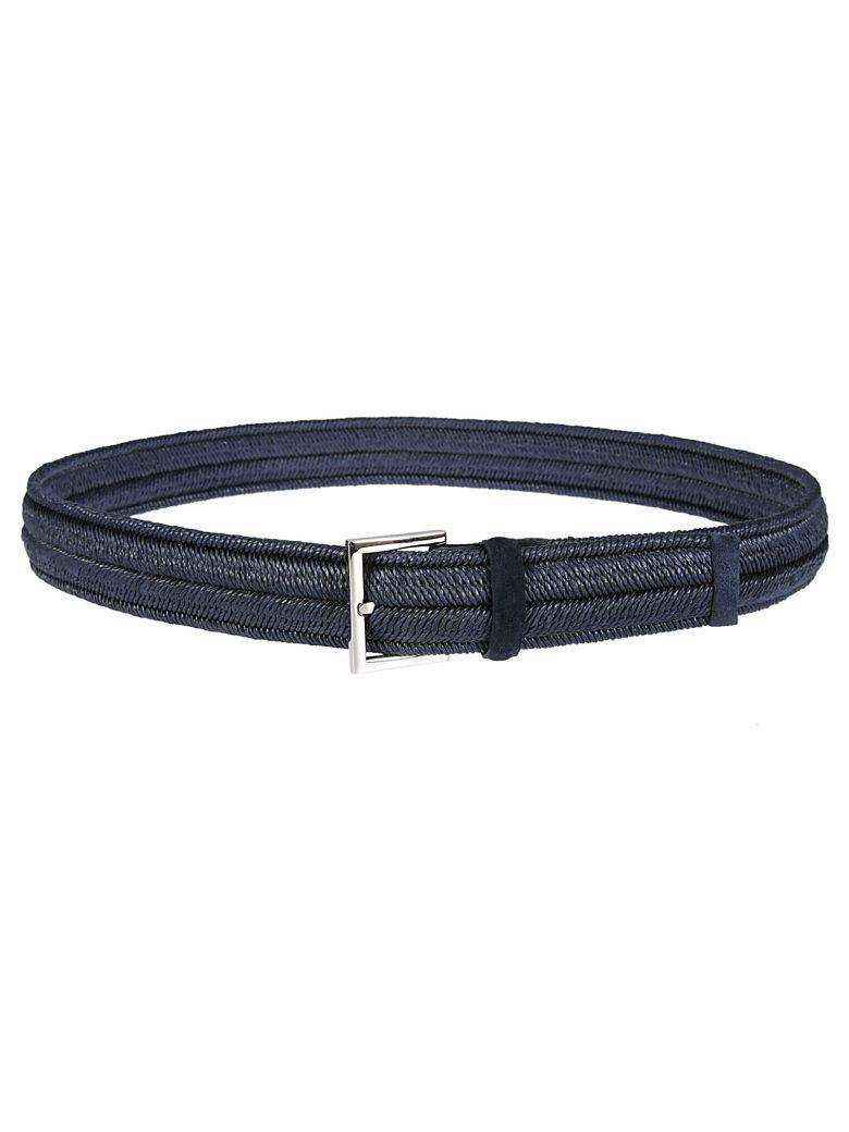 Orciani Braided Belt In Notte