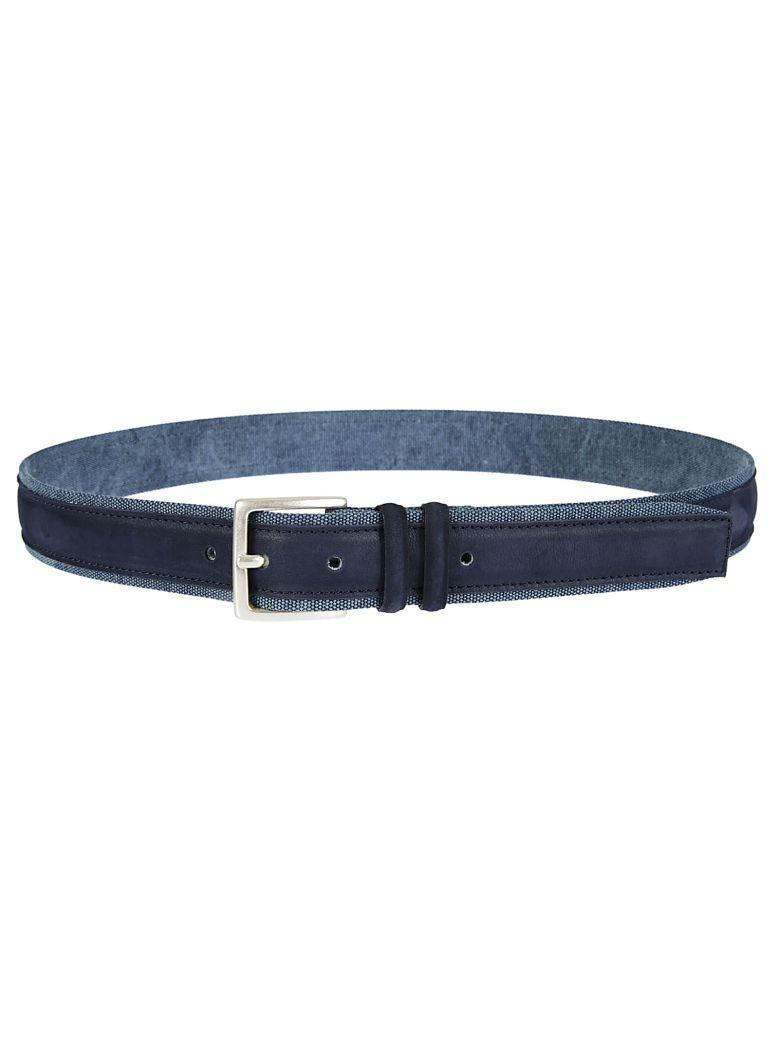Orciani Double Layered Belt In Blue