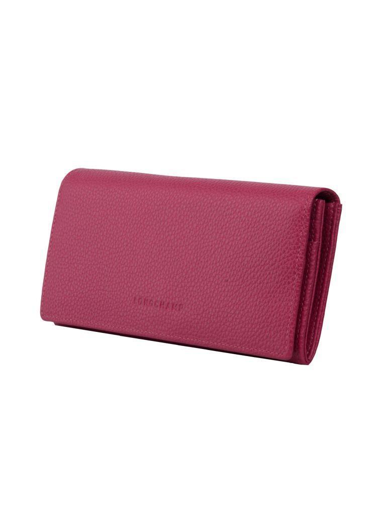 Longchamp Le FoulonnÉ Continental Wallet In Pink & Purple