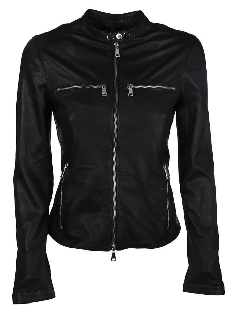 Vintage Deluxe Zip Jacket In Black