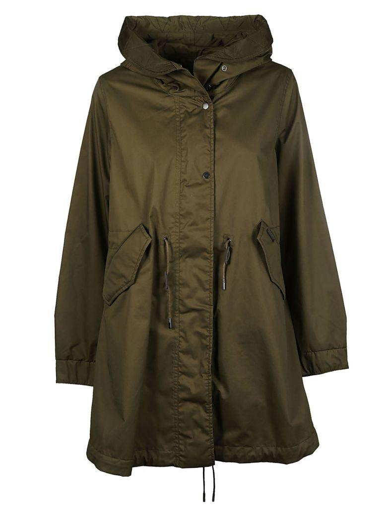 Woolrich Over Parka In Shiny Green