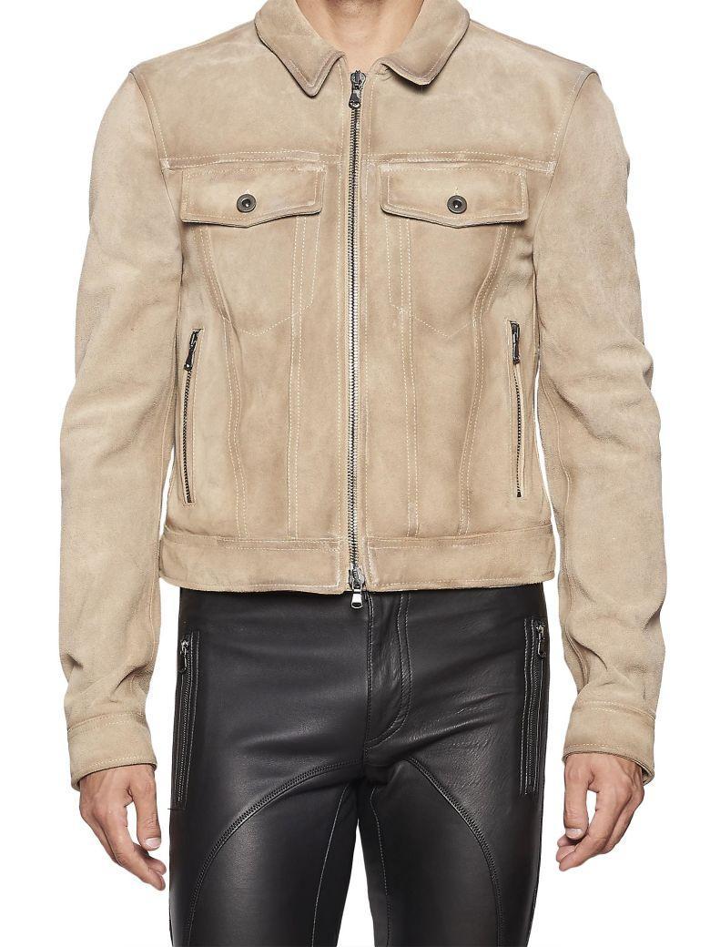 Diesel Black Gold Lavenere Jacket In Beige