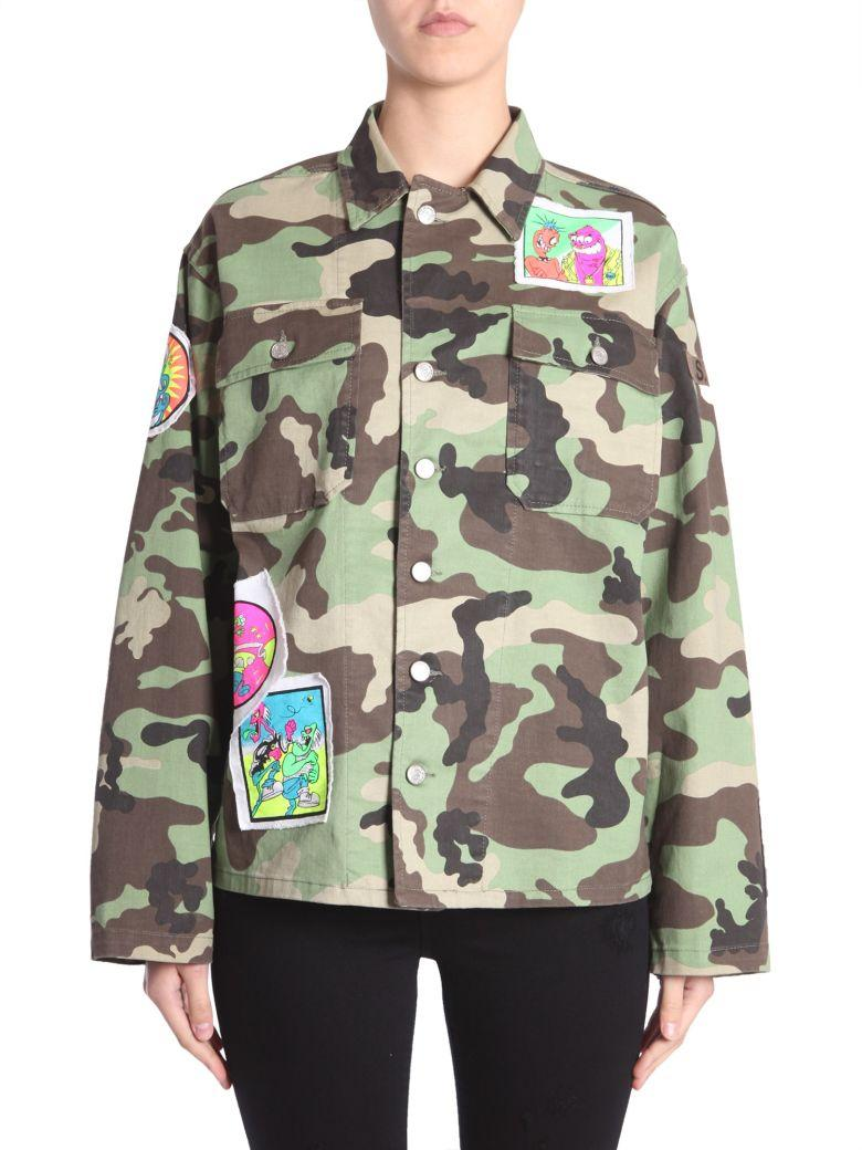 Jeremy Scott Oversize Fit Jacket In Multicolor